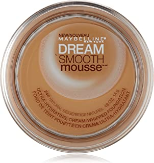 Maybelline New York Dream Smooth Mousse Foundation, Natural Beige, 0.49 Ounce