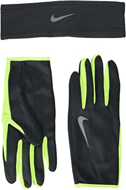 Nike - Run Dry Headband and Gloves Set