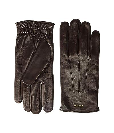 COACH Tech Napa Gloves (Mahogany) Gore-Tex Gloves