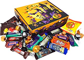 Halloween Favorite Candy Box - Kit Kat, Lindt Lindor, Hershey's, Tombstones, Nestle Butterfinger, Crunch, M&M's, Reese's, Kisses, Rolo, Fun Size Chocolate Candy Assortment, Bulk, 2 Lbs