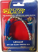 Sound Quest By Stinger 2 Female / 1 Male Y LED Illuminated Twisted Pair RCA Interconnects