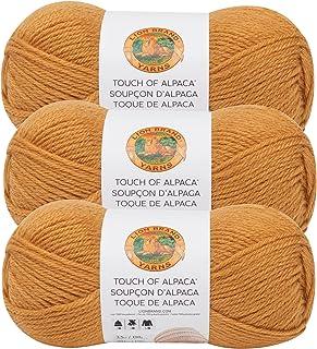 (3 Pack) Lion Brand Yarn 674-158 Touch of Alpaca Yarn, Goldenrod