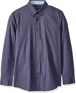 Ben Sherman Mens BA19F90590 Ls Clipped X Print Shirt Button Down Shirt
