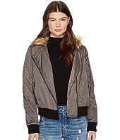 BB Dakota Powell Faux Fur Hooded Jacket