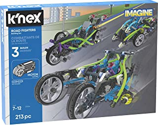 K'NEX Imagine – Road Fighters Building Set – 213Piece – Ages 7+ – Engineering Educational Toy Building Set (Amazon Exclusive)