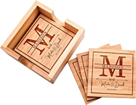 Customization Mill Customized Bamboo Coasters for Drinks | 4