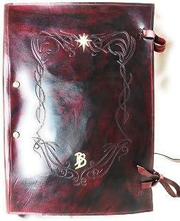 Libro Rojo Bilbo Bolson El Señor de los Anillos Encuadernación Artesanal.