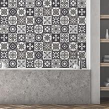 Marjorelle Marokkaanse muurtegelstickerset - 15 x 15 cm (6 x 6 inch) - 24 stuks, doe-het-zelf kunst, woondecoratie, sticke...