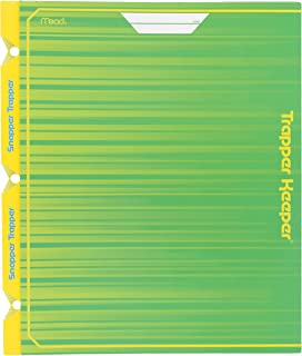 Mead Trapper Keeper Snapper Trapper 2 Pocket Folder with Fasteners, 11-7/8