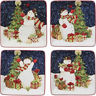 Certified International 22845SET4 Starry Night Snowman 6