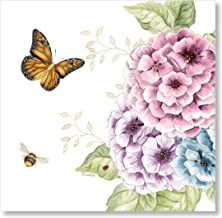 C.R. Gibson TW7-18717 Lenox Butterfly Meadow Disposable Lunch Napkins, 6.5'' W x 6.5'' L, 20pcs