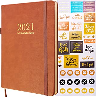 $38 » Law of Attraction Planner - 2021 Deluxe Weekly, Monthly Planner, a 12 Month Journey to Increase Productivity & Happiness -...