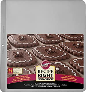 Wilton Cookie/Biscuit Baking Tin, Recipe Right, Stainless Steel, Insulated, 40.6 x 35.6 cm (16 x 14in)