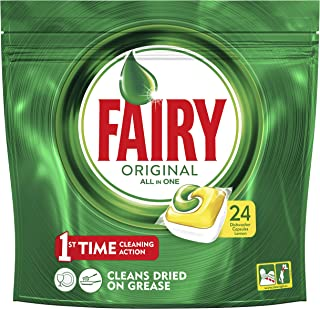 Fairy All In One Lemon Dishwasher Capsules, 24 count, Special Offer