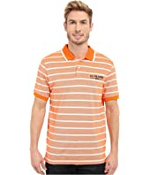 U.S. POLO ASSN. - Embellished Pencil Stripe Polo Shirt