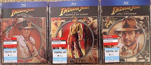 Indiana Jones Trilogy (Raiders Of The Last Ark, Temple Of Doom, The Last Crusade) [Blu ray/Digital HD Steelbook/Metalpak/Futurepak; Embossed; Target Exclusive Metalpack/Futurepack]