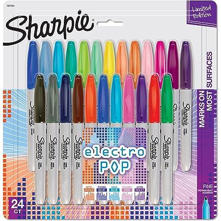 Sharpie Color Burst Permanent Markers 24 Count Fine Point Assorted Colors