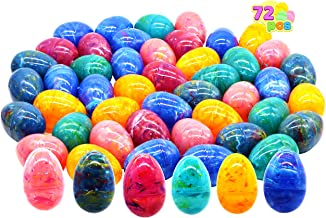 """72 Packs 3.15"""" Large Iridescent Rainbow Easter Eggs Bulk Set for Easter Eggs Hunt, Easter Basket Stuffers/Fillers, Filling Treats, Party Favor, Classroom Prize Supplies"""