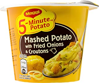 Maggi 5-Min Mashed Potato with Fried Onions and Croutons, 56g