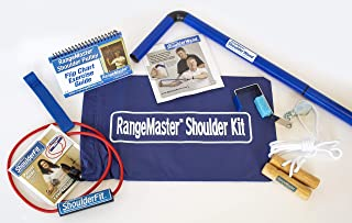 RangeMaster All in one Shoulder Strengthening and Home Therapy Kit ¦ Physical Therapy Tool ¦ Aids in Recovery and Increasing Mobility ¦ Comprehensive Exercise Guide ¦ Metal Bracket Door Attachment