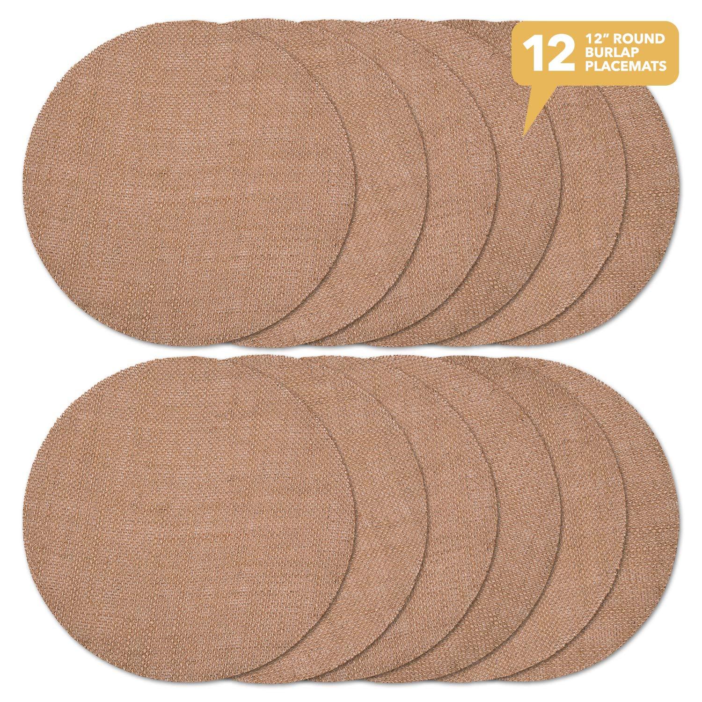 12 PCS Burlap Napkins Placemats 20x 20 Square Fringe Table Dozen wholesale sheets free shipping *