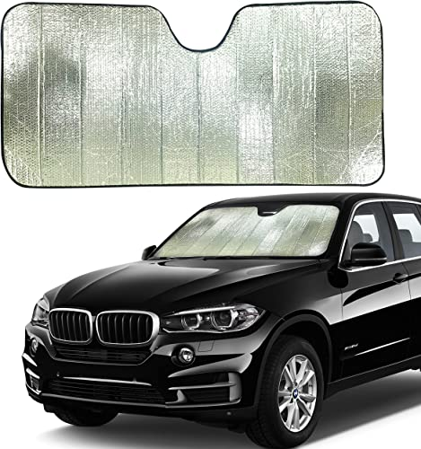 high quality EcoNour Accordion Sun Shade outlet sale for Car   Car Shade Front Windshield to Block Harmful UV Rays   high quality Automotive Window Sunshades to Keep Your Car Cool   Car Shield for Sun Heat   Large (28 inches x 58 inches) online sale