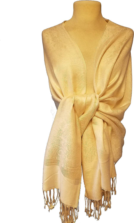 Elegant Stole Soft Silky Paisley Pashmina Shawl Wrap Scarf