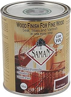 SamaN SAM-314-1L 1-Quart Interior Stain for Fine Wood for Seal, Stain and Varnish, Dark Walnut
