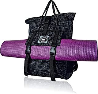 LUCKAYA Stylish Lightweight Waterproof Multipurpose Yoga Mat Bag/Backpack with Laptop Compartment for Gym,Yoga Class,Office and School.