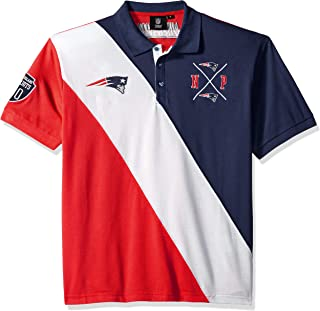 NFL Men's Cotton Diagonal Stripe Rugby Polo