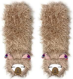 Slipper Socks Llama One Size All Amazingly Soft Sherpa Pink