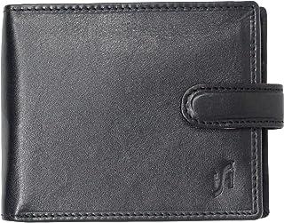 Brown Starhide Mens Designer Luxury Leather Wallet With Secure Zip Coin Pocket #110