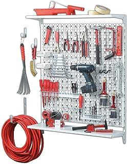 Element System Panel perforado 11300-00015 ORGANIZER 3 de metal, de 72 piezas incluyendo tornillos y tacos, blanco
