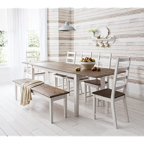 Noa and Nani - Canterbury Extending Dining Table with 5 Chairs and 1 Bench   afca6a454