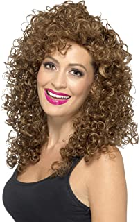 Smiffy's Women's Boogie Babe Wig Long Curly