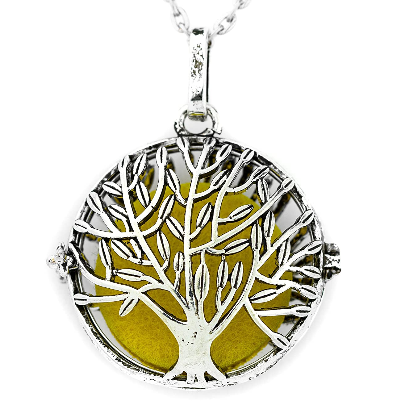 Soul Statement Tree of Life Essential Oil Necklace for Women
