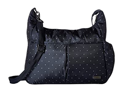 Pacsafe Daysafe Anti-Theft Crossbody Bag (Navy Polka Dot) Cross Body Handbags