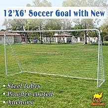 Strong Camel 12' x 6' Soccer Goal with Net Football Goal Sport Training Sets Ball Goals