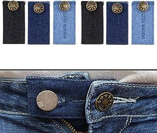 Extensor de Cintura para Jeans, Pantalones, vestidos y faldas, Juego de 3 / 6, Alargador Pantalones hasta 5 cm, Extensión ...