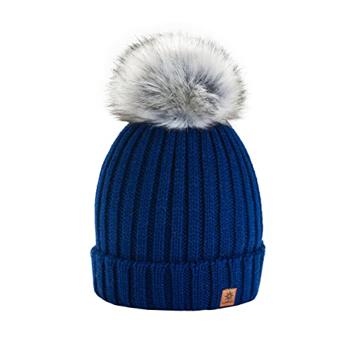 a285c57dbf8c6 4sold Rita Womens Girls Winter Hat Wool Knitted Beanie with Large Pom Pom  Cap SKI Snowboard