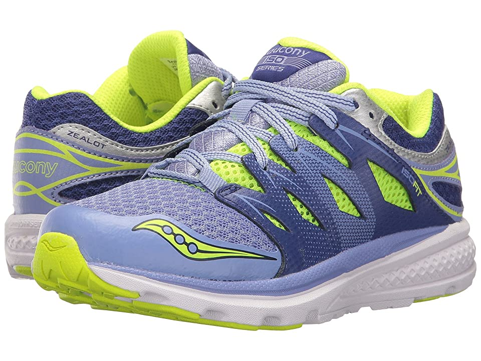 Saucony Kids Zealot 2 (Little Kid) (Purple/Blue) Girls Shoes
