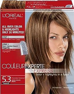 L'Oreal Paris Couleur Experte Express Hair Color, 5.3 Medium Golden Brown/Chocolate Macaroon