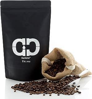 Caveman Coffee Blacklisted, Dark Roast, Colombia Single Origin, Low Acidity, UTZ & Rainforest Alliance Certified, Paleo Certified, Whole Bean, 12 oz Bag
