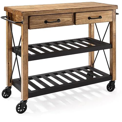 Butcher Block Kitchen Cart: Amazon.com