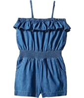 Mud Pie - Denim Ruffle Romper (Infant/Toddler)