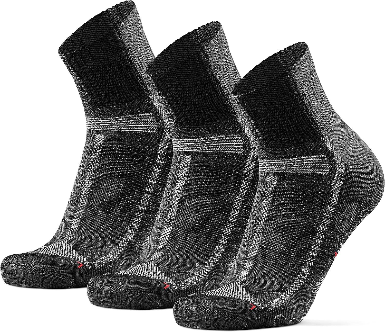 DANISH ENDURANCE Running Socks for Long Distances 3 Pack, for Men & Women, Anti-Blister, Arch Support, Cushioned
