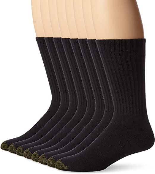 Gold Toe Mens Cushioned Work//Athletic Crew Socks Blue 3-Pack x2 6 Total