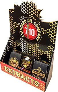 Standard Oil Company 710 Pop Up Medical Marijuana Dispensary Display For Oil Extract Envelopes & More (Display + 100 Black / Gold #007)
