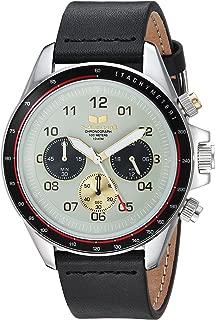 Vestal 'ZR2' Quartz Stainless Steel and Leather Casual Watch, Color:Black (Model: ZR243L01.BK)
