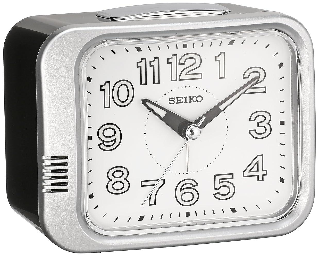 南西傾く従順セイコー クロック 目覚まし時計 アナログ 銀色 メタリック KR896S SEIKO